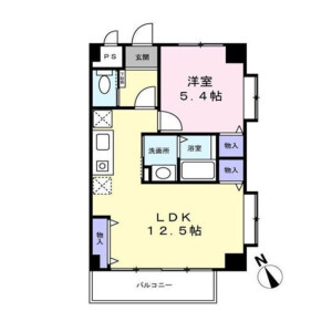 1LDK Mansion in Tsuchihashi - Kawasaki-shi Miyamae-ku Floorplan