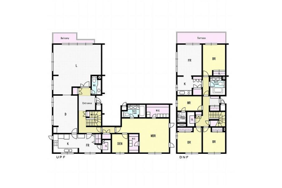 4LDK Apartment to Rent in Shibuya-ku Floorplan