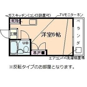 1R Apartment in Igusa - Suginami-ku Floorplan