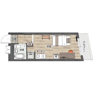1R Mansion in Kamiookanishi - Yokohama-shi Konan-ku Floorplan