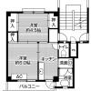 2K Apartment to Rent in Chikusei-shi Floorplan