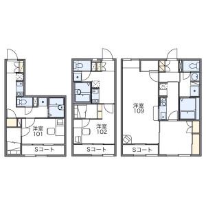 1K Apartment in Tsukisamu higashi3-jo - Sapporo-shi Toyohira-ku Floorplan
