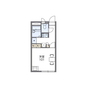 1K Apartment in Kasumigaseki higashi - Kawagoe-shi Floorplan
