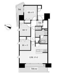 3LDK Mansion in Yashirodai - Nagoya-shi Meito-ku Floorplan