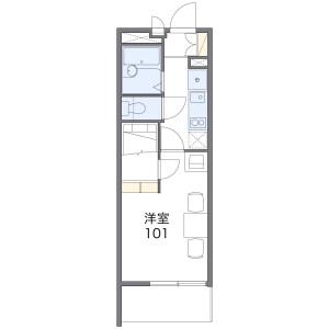 1K Mansion in Hommachinishi - Saitama-shi Chuo-ku Floorplan