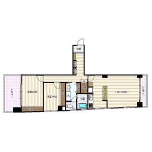 2LDK Mansion in Sumiyoshicho - Shinjuku-ku Floorplan