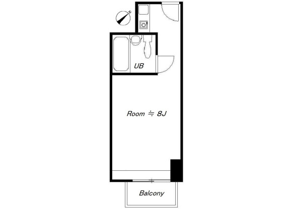 1R Apartment to Buy in Sakai-shi Sakai-ku Floorplan