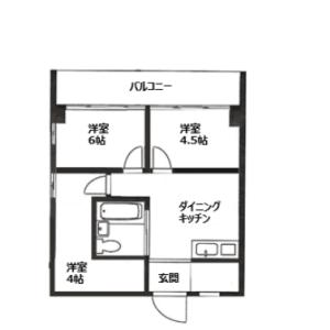 2DK {building type} in Okubo - Shinjuku-ku Floorplan