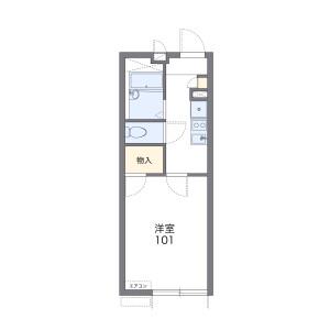 1K Apartment in Kanamori - Machida-shi Floorplan