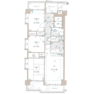 3LDK Mansion in Shinsayama - Sayama-shi Floorplan