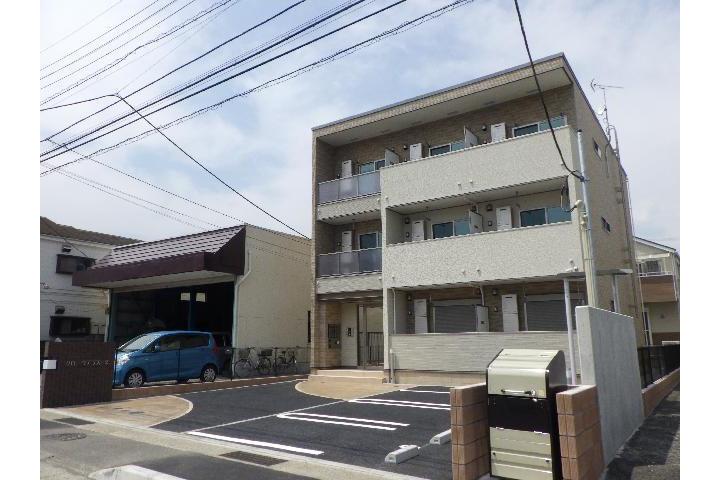 在小田原市内租赁1K 公寓 的 户外