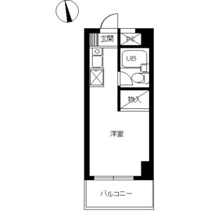 1R Mansion in Haramachida - Machida-shi Floorplan