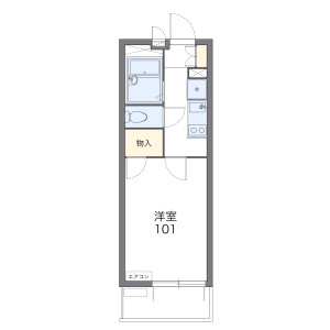 1K Mansion in Onaricho - Saitama-shi Omiya-ku Floorplan