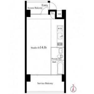 1K Mansion in Minamiikebukuro - Toshima-ku Floorplan