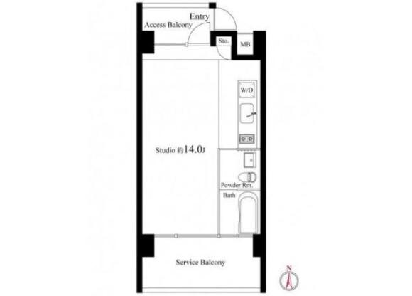 1K Apartment to Rent in Toshima-ku Floorplan