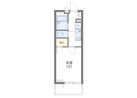 1K Apartment to Rent in Saitama-shi Kita-ku Floorplan