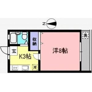 1K Apartment in Chitosedai - Setagaya-ku Floorplan