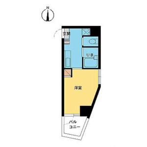 1K Mansion in Shimochiai - Shinjuku-ku Floorplan