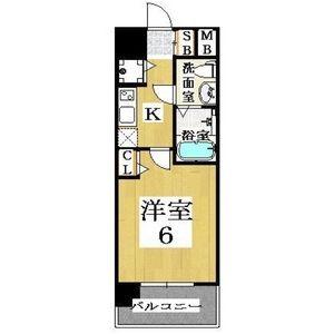 1K Apartment in Inari - Osaka-shi Naniwa-ku Floorplan