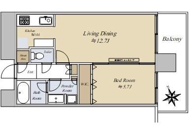 在千代田區購買1LDK 公寓大廈的房產 房間格局