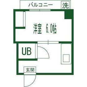 新宿區早稲田鶴巻町-1K公寓大廈 房間格局