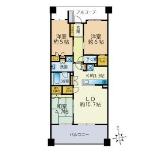 3LDK {building type} in Hiyoshihoncho - Yokohama-shi Kohoku-ku Floorplan