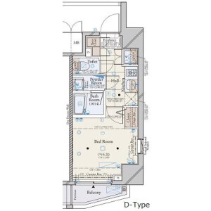 1K Mansion in Toranomon - Minato-ku Floorplan