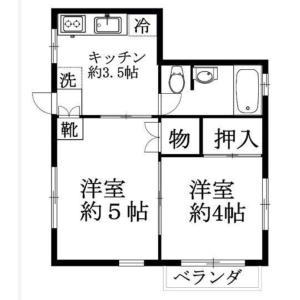 文京区 大塚 2K マンション 間取り