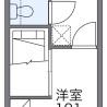 1K Apartment to Rent in Gamagori-shi Floorplan