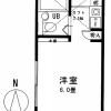 1R Apartment to Rent in Asaka-shi Floorplan