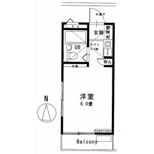 1R Mansion in Asashigaoka - Asaka-shi Floorplan