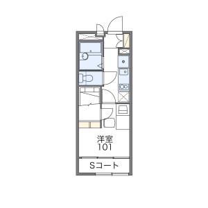 京都市伏見区 深草正覚町 1K アパート 間取り