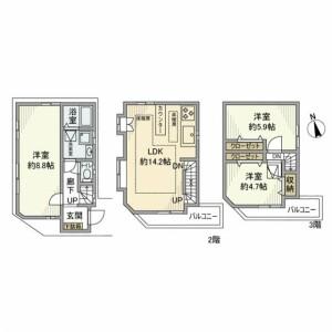 3LDK House in Sakamachi - Shinjuku-ku Floorplan