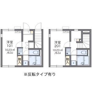 世田谷区 北沢 1K アパート 間取り