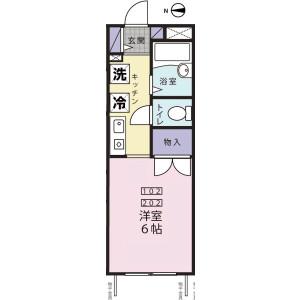 1K Apartment in Nakaochiai - Shinjuku-ku Floorplan