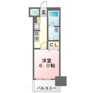 浦安市当代島-1K公寓大廈 房間格局