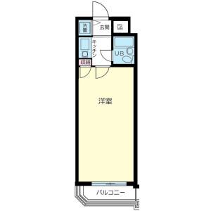 澀谷區神南-1K公寓大廈 房間格局