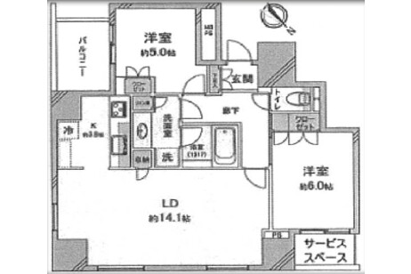 2LDK Apartment to Buy in Toshima-ku Floorplan