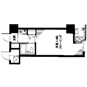 1R Mansion in Nishigotanda - Shinagawa-ku Floorplan