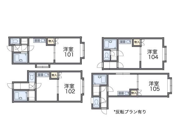 1DK Apartment to Rent in Hakodate-shi Floorplan