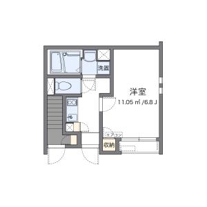大田區久が原-1K公寓 房間格局