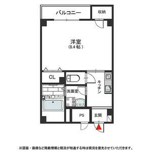 1K Mansion in Nambasennichimae - Osaka-shi Chuo-ku Floorplan