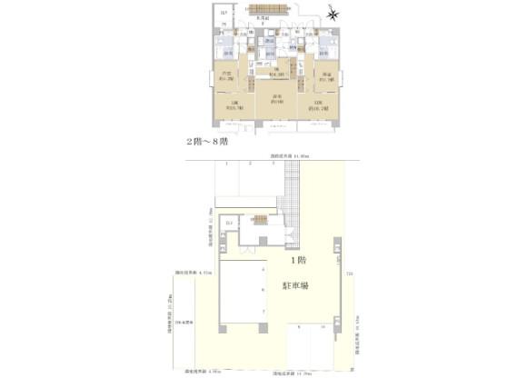 在名古屋市西区购买整栋 公寓大厦的 楼层布局