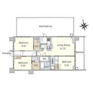 3LDK {building type} in Sendagaya - Shibuya-ku Floorplan