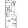 1LDK Apartment to Buy in Kyoto-shi Shimogyo-ku Floorplan