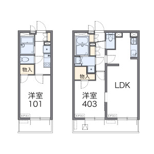 1K Apartment in Higashiogu - Arakawa-ku Floorplan