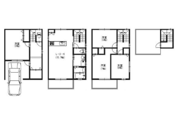 4LDK House to Buy in Osaka-shi Yodogawa-ku Floorplan