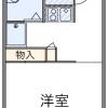 1K Apartment to Rent in Kuki-shi Floorplan