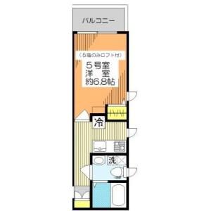墨田區太平-1K公寓大廈 房間格局