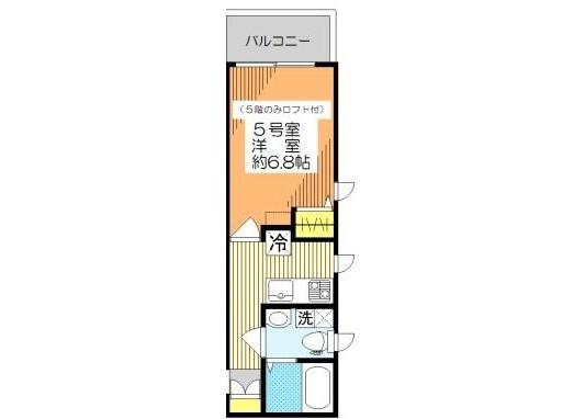 在墨田區內租賃1K 公寓大廈 的房產 房間格局